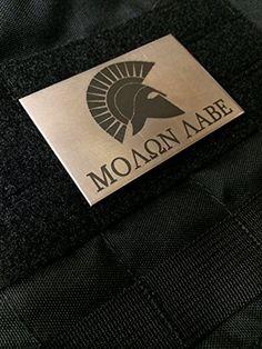 "2x3"" Grade 2 Titanium Molon Labe Spartan Velcro Morale Patch Precision Laser Inscribed Empire Tactical http://www.amazon.com/dp/B00PE736LE/ref=cm_sw_r_pi_dp_Urbyub0K02G79"
