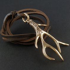 Bronze antler horn pendant by LostApostle