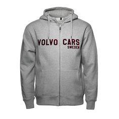 Volvo Hoodie Volvo Cars Bekleidung Zipper Grau