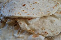 Homemade Tortillas. SO soft! You won't go back to store bought. #makeyourown