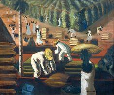 Café. 1940. Cândido Portinari (Brodowski, SP, Brasil, 30/12/1903 - 06/02/1962, Rio de Janeiro, RJ, Brasil). Faz parte do Acervo digital ©Projeto Portinari.