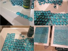 DIY Furniture Update: How to Tile a Table with Glass Gems ~ Madigan Made { simple DIY ideas }