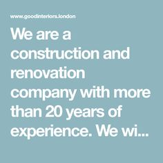 We are a construction and renovation company with more than 20 years of experience. We will renovate you bathroom, kitchen and even the whole house! We will restore the façade and replace windows and doors. Kitchen Builder, Carpentry Services, Kitchen Fitters, London Painting, Room London, Window Replacement, Painting Services, North London, Kitchen Paint