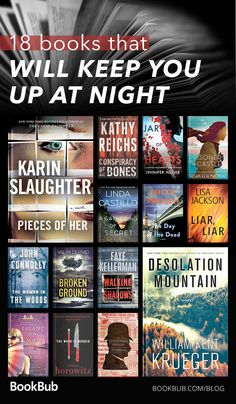 This reading list of mysteries and crime fiction books will keep you up all night reading! The plot twists will blow your mind. #bookrecs #mystery #mysterybooks