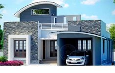 Small house plans in kerala for a different house style modern house plans dream house small contemporary house plans kerala Single Floor House Design, Simple House Design, House Front Design, House Design Photos, Modern House Design, Villa Design, Roof Design, Indian Home Design, Kerala House Design