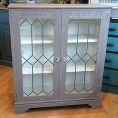 Display Cabinet wide, deep and high. Annie Sloan Chalk Paint, China Cabinet, Display, Storage, Painting, Furniture, Home Decor, Floor Space, Purse Storage