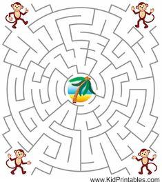 Printable Mazes For Kids. Wellicht een weg maken met sommen en goede/foute antwoorden --> weg volgen met de sommen en goede antwoorden.