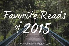 Thinking Thoughts: 14 Favorite Reads of 2015 + GIVEAWAY