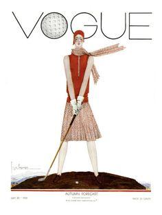 Vogue July 1929 (more vintage Vogue covers on chicityfashion.com)