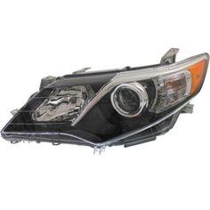 2012-2013 Toyota Camry Head Light LH, Assembly, Halogen, SE Model - Capa