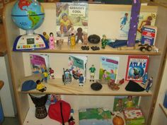 Understanding the world area at Kidsunlimited Eldonians Investigation Area, Reading Areas, Equality And Diversity, Continuous Provision, Preschool Rooms, World Geography, Classroom Organisation, Learning Environments, Eyfs
