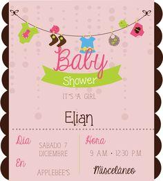 Invitacion para Baby shower #babyshower #invitacion #bebe #diseño #tissa #niña
