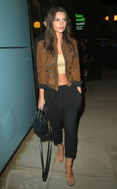Emily Ratajkowski from The Big Picture: Today's Hot Pics  The model and actress is seen heading to the Guns N' Roses concert at the Troubadour in West Hollywood.