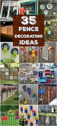 Backyard Fence Decorations 30 Eye Popping Fence Decorating Ideas That Will InstantlyBackyard Fence Decorations Fence Decor Backyard: Garden Decor Ideas (gardenBackyard Fence Decorations 40 Creative Garden Fence Decoration Ideas Diy Backyard Fence, Garden Fence Art, Diy Fence, Wooden Fence, Fence Ideas, Pallet Fence, Pallet Planters, Planters On Fence, Fenced In Backyard Ideas