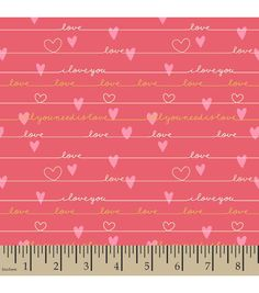 Snuggle Flannel Fabric-Love Pink Fabric