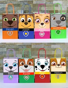 Decorate your Paw Patrol Party with these 8 cute faces for your Favor Bags. Use them to create your own favor bags or centerpieces. Paw Patrol Birthday Decorations, Paw Patrol Party Favors, Paw Patrol Birthday Theme, Paw Patrol Cake, Paw Patrol Invitations, 6th Birthday Parties, 2nd Birthday, Cumple Paw Patrol, Gaspard