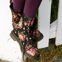 Doc Martins Floral print boots. These would make a great birthday present