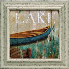 Artistic Reflections Waterside I Framed Painting Print