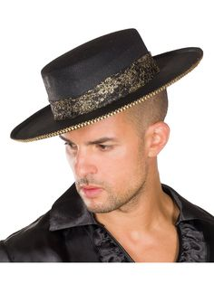 Hats For Men, Cowboy Hats, Detail, Products, Spanish Hat, Black People, Hat Men, Black Gold, Carnival