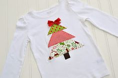 Christmas Tree Applique for Sophie's jumper