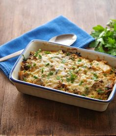 Caramelized Cauliflower and Mushroom Casserole. This would be amazing with a nice roast on a winter's evening.