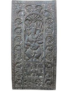 "Hindu God Ganesh Hand Carved Wood Ganesha Door Panel India 72"" X 36"" Mogul Interior http://www.amazon.com/dp/B00OFMFEB4/ref=cm_sw_r_pi_dp_qk5oub17Z352X"