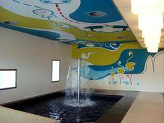Mural en Spa Aqum. La Pineda, Tarragona (Spain). Trabajo realizado por MªDolores Alfaro, Carmen González y Mónica Janer