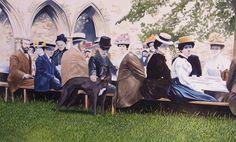 The Tea Party by Brian Monty Toms.  Newly completed and for sale.  Contact details @ http://www.monttomsart.com/