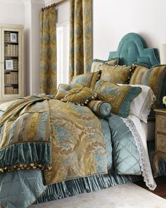 """""""Windsor Gardens"""" Bed Linens at Horchow.  Love the look!!!!!!!!  Spare bedroom John?"""