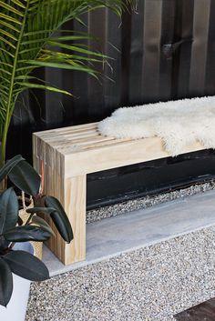 Mid-Century Slatted Bench DIY