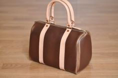 Chicago Bag in Brown Chromexcel/Natural Veg Tan by LthrwD on Etsy, $200.00