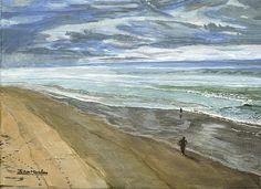 Title:  Playing On The Oregon Coast   Artist:  Ian Donley   Medium:  Painting - Acrylic On Canvas