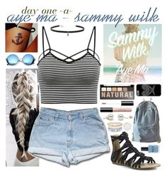 """""""day one, aye ma by sammy wilk"""" by roxouu ❤ liked on Polyvore featuring Mark & Maddux, NYX, Revo, WithChic, Lauren B. Beauty, Carbon & Hyde, Arteriors, music, challenge and sammywilk"""