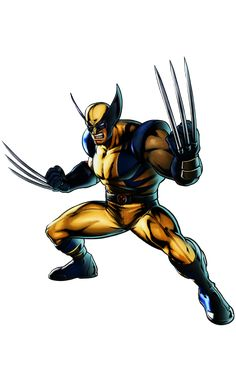 Wolverine Wolverine is a character that appears in the Marvel vs. He has appeared in every game in the series, except for Marvel vs. Wolverine Comics, Wolverine Cartoon, Logan Wolverine, Marvel Vs, Marvel Dc Comics, Marvel Heroes, Chuck Norris, Comic Book Characters, Marvel Characters