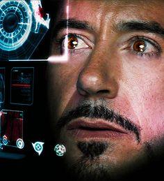 Tony Stark (Robert Downey Jr.).  Those eyes...