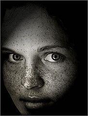 A Windowlight (window light) portrait / black and white portrait / Black & White / BW / Portrait / black / background / white / : IMGP6898 by Bahman Farzad