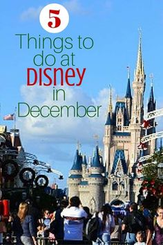 There is something magical about Disney this time of year & there are certain things you can only experience at Disney World in December. via @disneyinsider