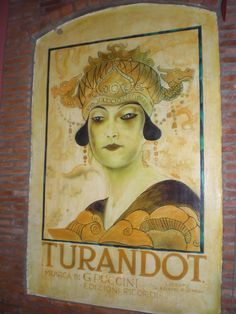 Turandot Poster - taken (by Carlos) at Cafe Maestro, The Fort, Taguig, Metro Manila
