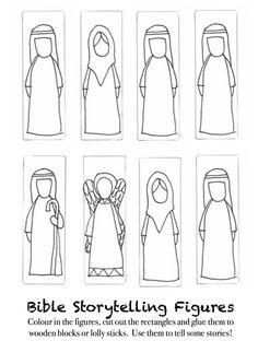 elisha bible printable figures | Creative Storytelling: Freestanding Bible Characters to Colour and ...