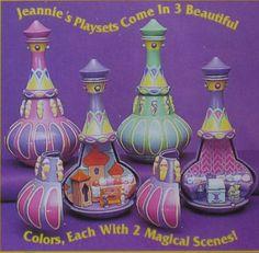 "Amazon.com: I Dream of Jeannie Locket w Genie Bottle & 1"" Doll (1995 Trendmasters): Toys & Games"