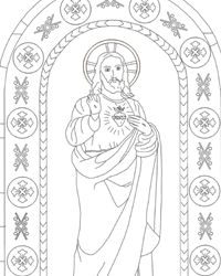 sacred heart coloring pages - photo#19