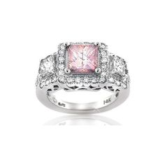Pink Diamond Rings Rings, Pink Diamond Rings Engagement-Ring... - Polyvore