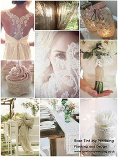 Lace Inspiration Board  -Rose Tint My Wedding planning and design