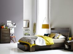 Dusk Standard Headboard with 1 Drawer Base: Queen Bed (1 Drw Base). Colours: Espresso, Cocoa, Smoke, New Chocolate, Husk