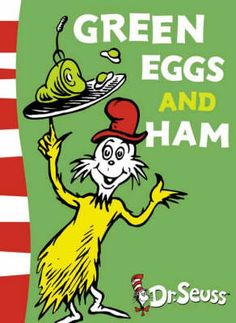 Green Eggs and Ham by Dr. Seuss | Sam-I-Am mounts a determined campaign to convince another Seuss character to eat a plate of green eggs and ham. Dr. Seuss turns 50 easy words into magic in this time-honored classic. | #DrSeuss #literacy #youthlit