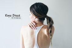 Rope Braid Hair Tutorial // Treasures & Travels