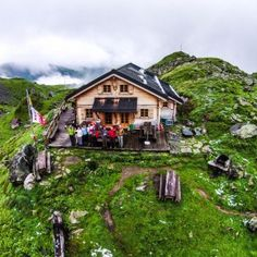 Alpine Mountain Huts. Huts and Cabanes in the Alps.