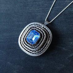 filigree necklace from Israel Brutalist Design, Vintage Pottery, Vintage Jewellery, Vintage Bohemian, Contemporary Jewellery, Vintage Buttons, Filigree, Israel, Pendant Necklace