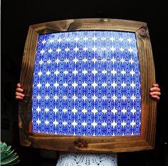 quadro azulejos moldura madeira maciça tiles wood pattern padrão design art artist revestimento ceramica handmade decor indoor decoração decorhome decortiles