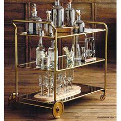 Roost Florin Brass Bar Cart – Modish Store